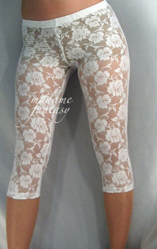 MADAME FANTASY SHORT WHITE LACE LEGGINGS XS S M L XL XXL XXXL