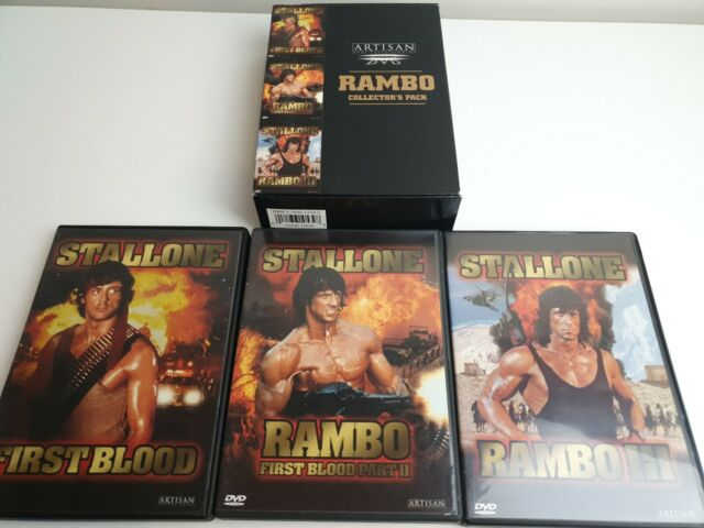 Rambo DVD Box Set - Stallone Trilogy - 3 DVD Box Set