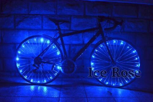 Blue Watterproof  Wheel Bright LED Bicycle Safety Wheel Flashing Light
