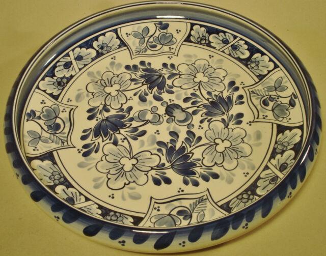 Villeroy & Boch Lübeck Obstschale Schale Brabant Delft Delfter Keramik um 1910