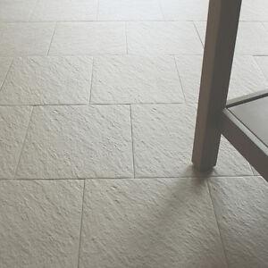 30x30cm Beige Porcelain Anti-Slip Riven Floor Tiles + Adhesive ...