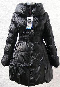 günstig Spitzenstil offizieller Preis Details zu Daunenjacke Winterjacke Daunenmantel Damen in Schwarz glänzend  Outdoor ABR1027