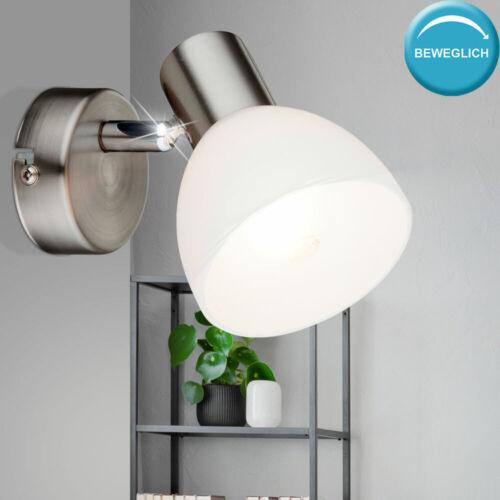 RGB LED Wand Lampe verstellbar Wohn Ess Zimmer Glas Spot Leuchte FERNBEDIENUNG