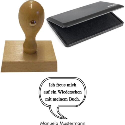 "Motiv /""Sprechblase/"" Persönlicher Ex-Libris Handstempel /& Stempelkissen STEMPEL"