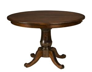 Amish Round Pedestal Dining Table Classic Traditional Solid Wood 42