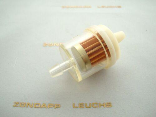 Kreidler Fleuret 80 E L lk600 Essence Filtre en plastique Blanc//Clair papier filtre