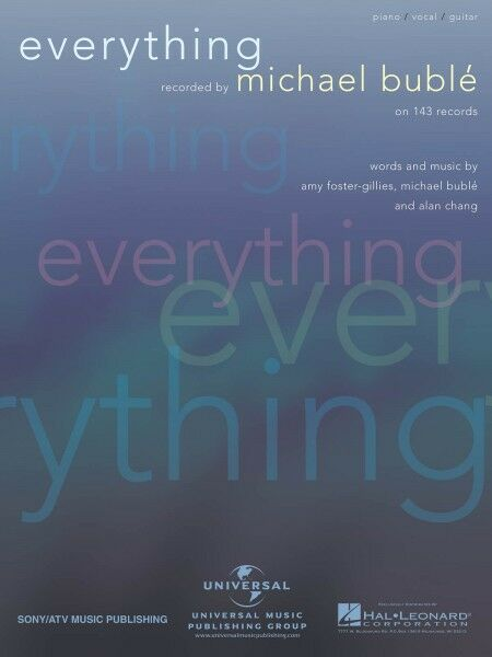Everything Sheet Music Piano Vocal Michael Buble 000353622 Ebay