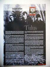 COUPURE DE PRESSE-CLIPPING :  TULUS  4ème trim 2007 Sarke,Biography Obscene