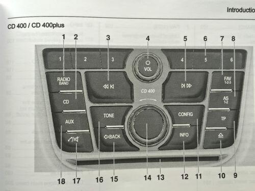 Vauxhall ZAFIRA TOURER CD AUDIO 300 400 600 navi 950 650 manuale operativo
