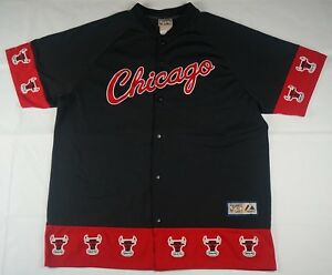 ff754ab51 Image is loading Rare-VTG-MAJESTIC-Chicago-Bulls-Hardwood-Classics-Windy-