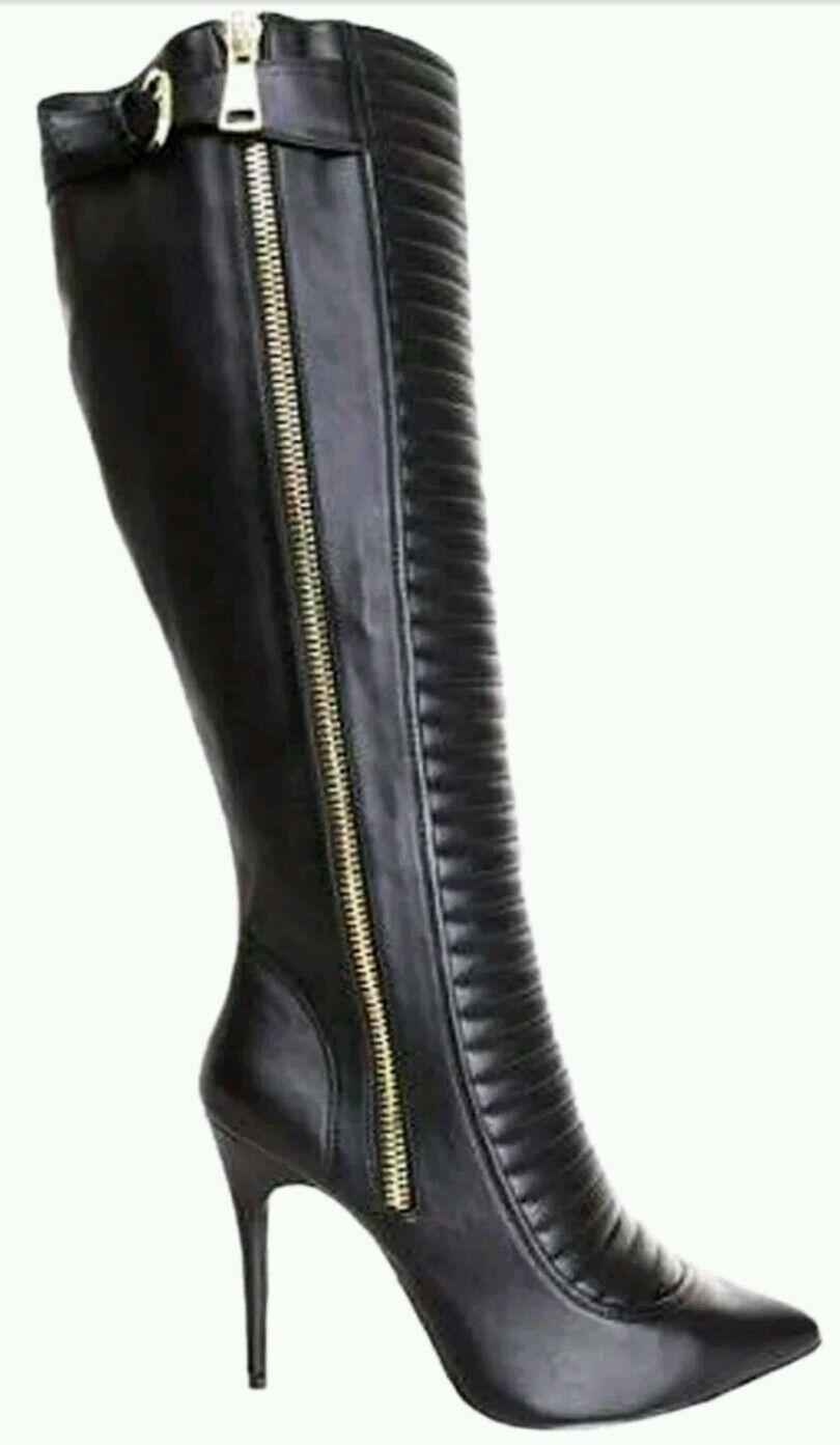 LFL Lust 4 Life Eccentrik Women's Pointy Toe Dress Boots size 6.5 reg 120.00