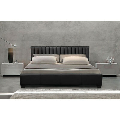 MODERN DESIGNER 4FT6 DOUBLE & 5FT KING SIZE LEATHER BED BLACK BROWN CHEAP BEDS
