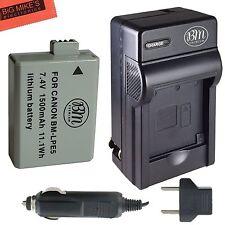 BM Premium LP-E5 Battery & Charger for Canon EOS Rebel XS, XSi, T1i,  Kiss F
