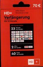 HD+ Plus Verlängerung TV HD Empfang 12 MonateTV Karten 01 02 03 04 TV Stick Neu