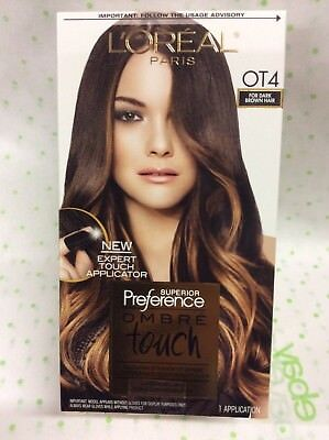 L Oreal Paris Superior Preference Ombre Touch Hair Color Ot4 Dark Brown New Ebay