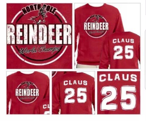Santa Claus Reindeer Games World Champs Sweatshirt Sizes SM thru 2XL
