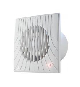 """Ventilateur pour Salle de Bain 100mm 4 /""""/"""" Minuteur Humidité Capteur Constamment"""