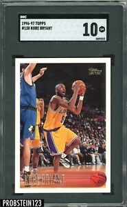 1996-97-Topps-138-Kobe-Bryant-Los-Angeles-Lakers-RC-Rookie-HOF-SGC-10-GEM-MINT