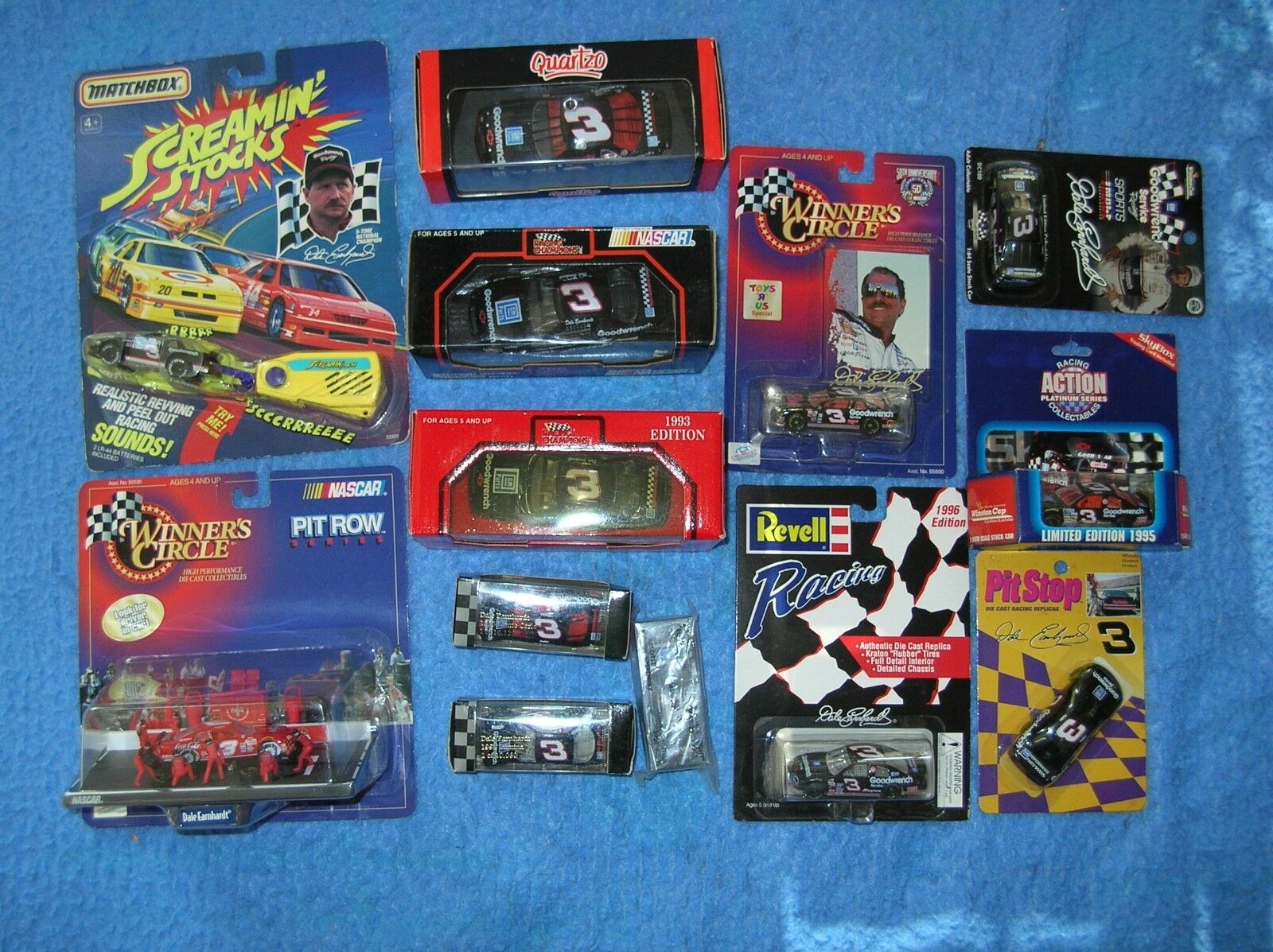 13 NASCAR Diecast 3 Dale Earnhardt GM Goodwrench cars Quartzo action RC MB Chevy