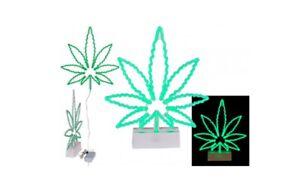 Neon Cannabis Leaf 3D Lamp - Marijuana Leaf Design Night Light