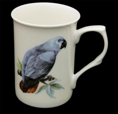 African Grey Mug China Cup Bird Present Parrots Birds Gift Idea