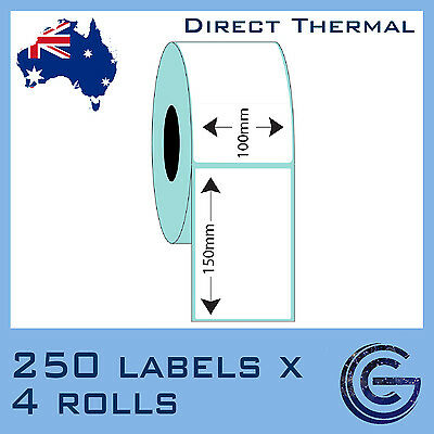 10 x Shipping Labels 100 x 150 mm 4x6 Fastway eParcel Startrack Zebra Datamax