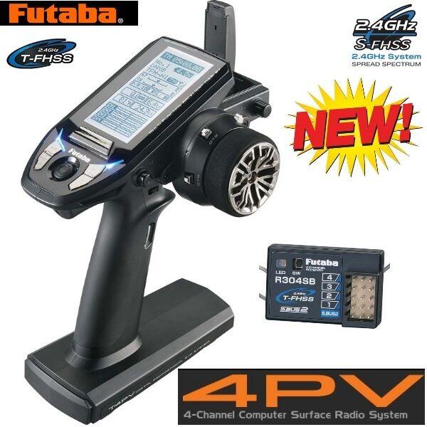 Futaba FUTK4700 4PV 4-Channel T-FHSS Computer Radio System Transmitter  Receiver
