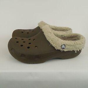 506e0e70a CROCS Classic Unisex Clog Slipper Mules Brown Mens Size 8 Womens sz ...