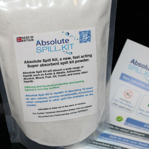 Absolute Spill Kit Nouveau Action Rapide Super Absorbant les fuites sang huile carburant