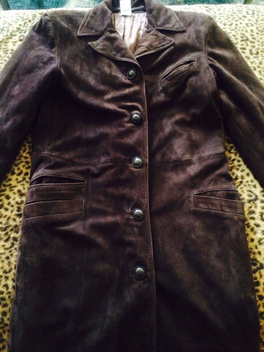 Versace Classic V2 Leather Long Coat 44 Made In