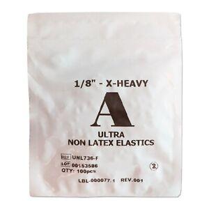 Orthodontic Elastic Bands ~Latex Free 1/8 6.5oz Extra-Heavy Between Teeth Braces