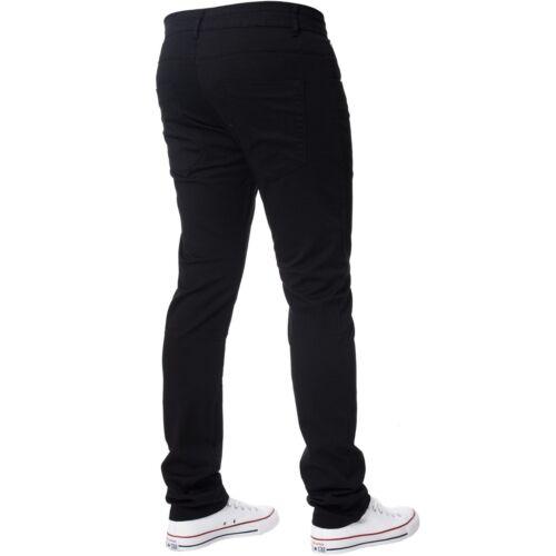 Men/'s Peviani Black Slim Fit Smart Wear Look Casual Chino Trouser Pants