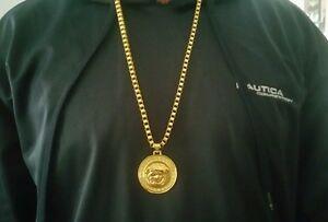 Versace medusa pendant medallion charm chain ebay versace medusa medallon encanto colgante cadena aloadofball Images