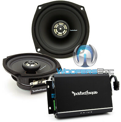 ROCKFORD FOSGATE R1-HD2-1998-2013 HARLEY DAVIDSON MOTORCYCLES SPEAKERS AMPLIFIER
