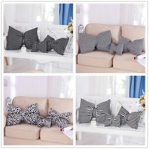 Pleasing-Funky-Retro-Bowknot-Pillow-Cushion-Home-Decor-Stripe-Checked-Stars-1P