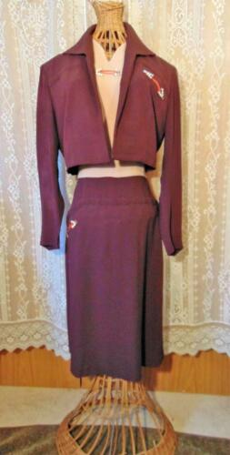 1940S 2 TONE BROWN GABARDINE WESTERN INFLUENCE DRE