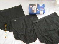 SLOGGI BASIC+ 3 BLACK COTTON COMFORT PANTS/BRIEFS/KNICKERS/UNDERWEAR UK20 XXXL