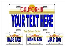 Novelty Number Plate, Personalsed Fun American California Licence Plate