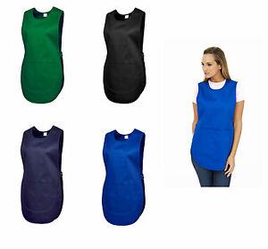 5-Pieces-Tablier-femme-tablier-tablier-Tunique-Blouse-vert-noir-bleu-920