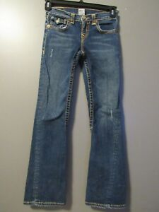 Details about TRUE RELIGION GIRLS TWISTED FLARE JEANS SIZE 14 26X30 VGUC