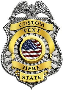 Details about Custom police badge vinyl graphic decal sticker style 4