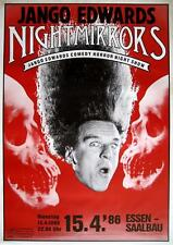 "JANGO EDWARDS TOUR POSTER / KONZERTPLAKAT ""NIGHTMIRRORS TOUR 1986"""