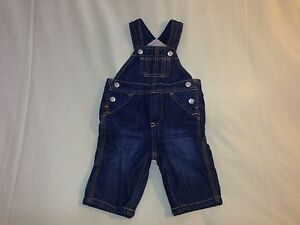 NWT BABY GAP SIZE 3 6 MONTHS INFANT LINED OVERALLS DARK WASH