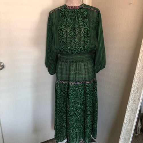 Vintage Lachine Pleated Chiffon Dress