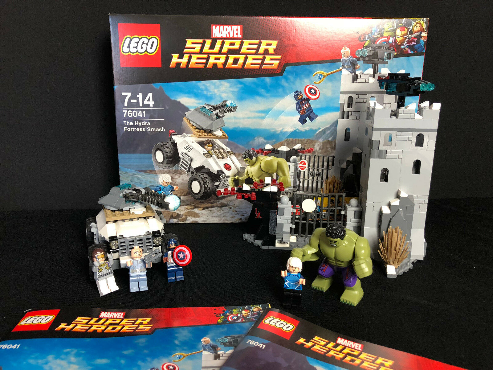 Lego 76041 Super Heroes Einbruch in die Hydra-Festung The Hydra Fortress complet