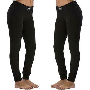 EVERLAST-Pantalone-da-donna-taglia-XL-sport-felpa-inverno-leggings-joggers-nero
