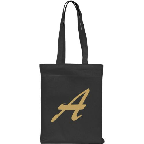 Alphabet Initial Letter A-Z Personalised 100/% Cotton Tote Shopping Bag Gift