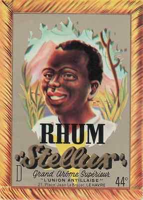 """""""rhum Stellux / L'union Antillaise Le Havre"""" Etiquette-chromo Originale"""