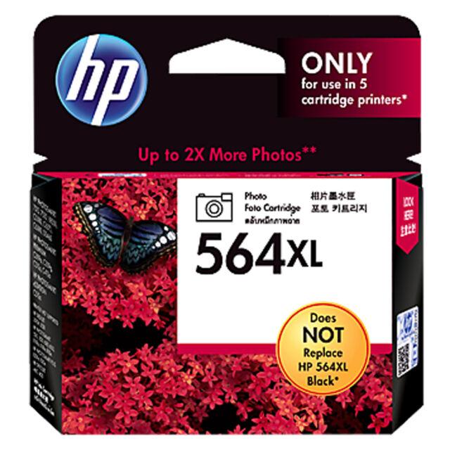 GENUINE Original HP 564XL PHOTO BLACK Ink Cartridge Toner CB322WA