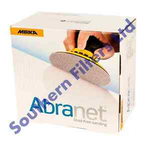 "Mirka Abranet 150mm (6"") Sanding Discs - Box of 50 - Mix grit available!!!!!!"
